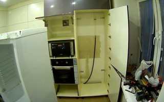 Как встроить холодильник в кухонную мебель