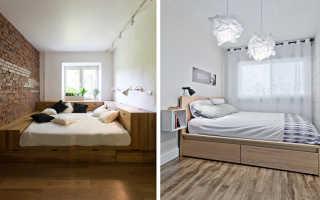 Как расставить мебель в узкой маленькой спальне