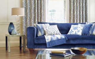 Какие обои подобрать к синей мебели